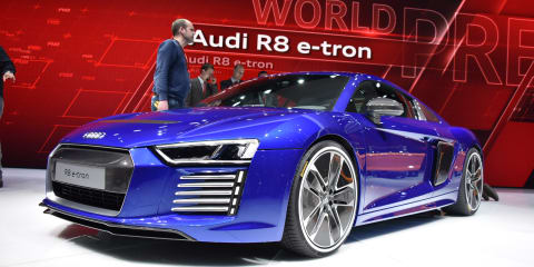Audi's forthcoming Tesla Model S rival inspired by the new R8 e-tron, scheduled for 2017