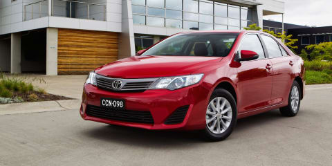 Toyota Camry upgraded with new infotainment systems; reverse-view camera now standard