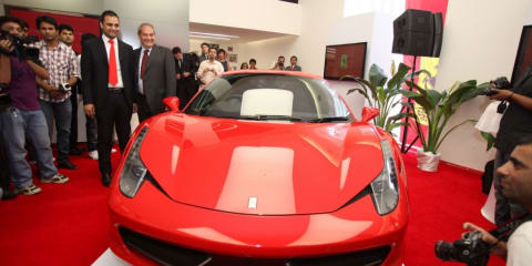 Ferrari opens first showroom in India
