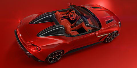 Aston Martin Vanquish Zagato Speedster and Shooting Brake revealed