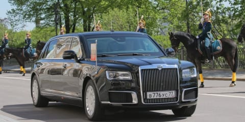 Putin's new Russian-made limousine revealed