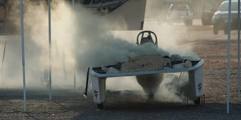 Filipino car explodes in World Solar Challenge