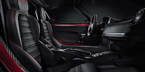 Alfa Romeo 4C interior revealed