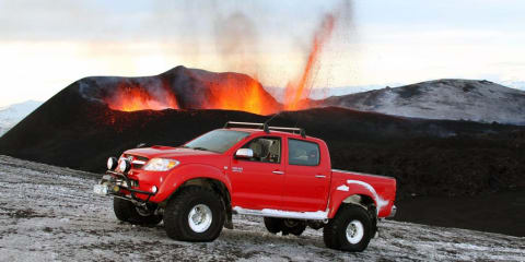 Arctic Trucks Toyota Hilux conquers Iceland's volcano