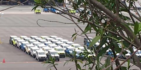 2019 Suzuki Jimny spied in factory yard, dash detailed – UPDATE