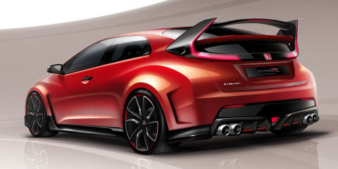 Honda Civic Type R : Geneva-bound concept previews upcoming hot-hatch styling