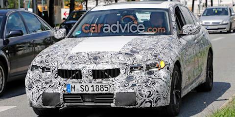2019 BMW 3 Series sedan spied with showroom-ready lights