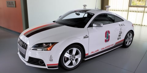 Audi TTS Pikes Peak commercial camera helicopter crashes