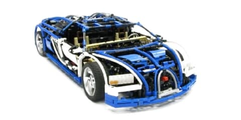 Video: Bugatti Veyron LEGO model with sequential gearbox
