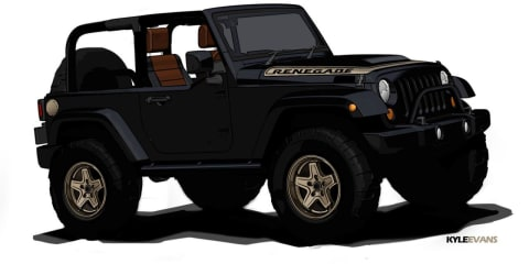 Jeep Wrangler Renegade and Pork Chop concept teasers