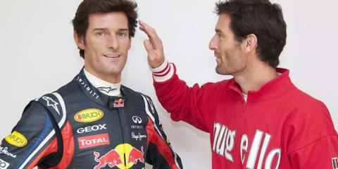 Mark Webber gets waxed for Madame Tassauds