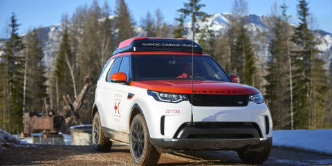 Land Rover Discovery with drone helping to save lives