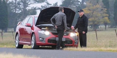 Allan Moffat spied testing FPV Coyote V8