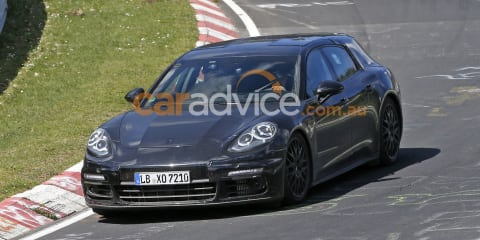 2017 Porsche Panamera 'shooting brake' spied at the Nurburgring