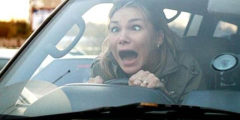 Female drivers more nervous with their partner in the car