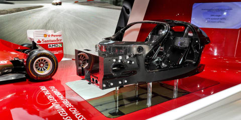 Ferrari F70 carbonfibre chassis previews hybrid Enzo successor