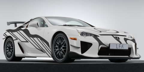 Lexus LFA 'art car' revealed for Spa