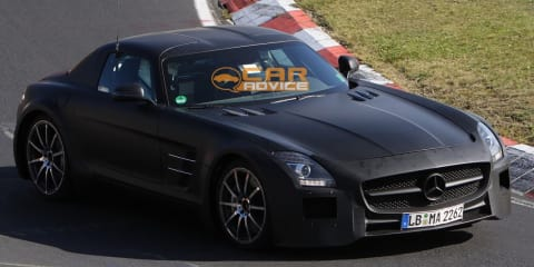 2013 Mercedes-Benz SLS AMG Black Series spy shots