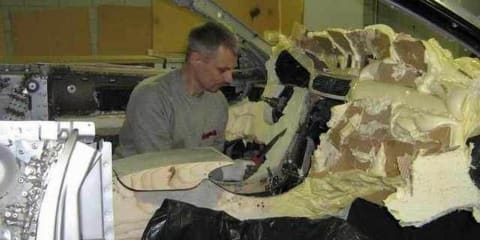 This guy dumped expanding foam all over an old Mercedes and made something... Different