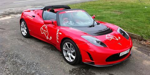 2011 Tesla Roadster starts longest EV trip in Australia