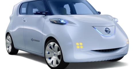 Nissan Townpod Electric Vehicle Concept unveiled