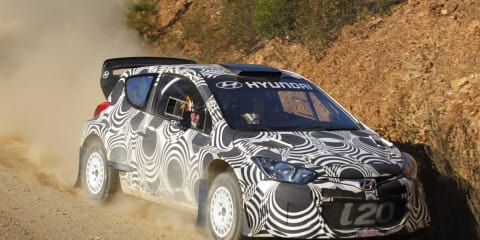 Hyundai i20 WRC Spanish gravel test: video