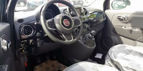 2016 Fiat 500's inside sneaks out