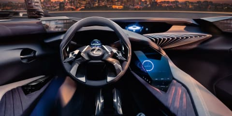 Lexus UX Concept interior revealed with hologram-style displays