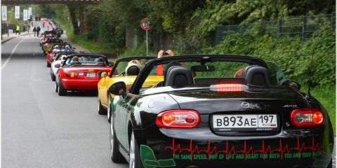 Mazda MX-5 record-breaking 459 car parade
