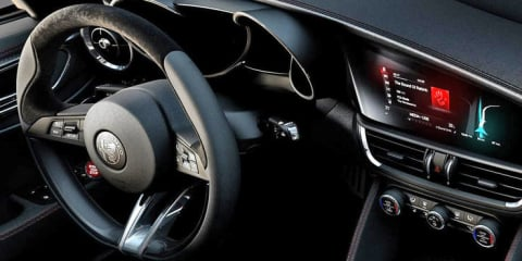 Alfa Romeo Giulia Quadrifoglio dash 'revealed', styling detailed in new video