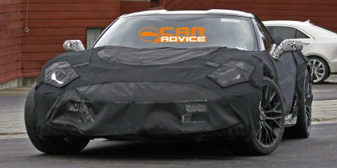 Chevrolet Corvette Z06: beefed-up muscle car spied