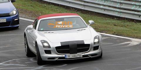 2011 Mercedes-Benz SLS AMG Roadster spied on the Nurburgring