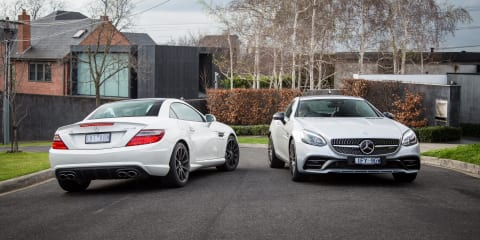 Mercedes-AMG Old v New: 2015 SLK55 v 2017 SLC43