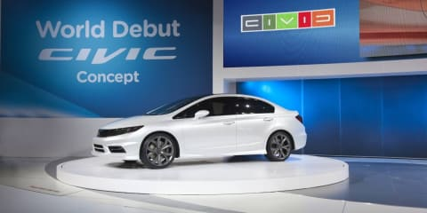 Honda Civic Si Concept sedan and coupe unveiled at Detroit Auto Show