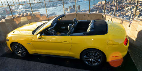 2015 Ford Mustang Convertible tops Empire State Building to mark 50th anniversary