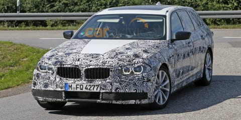 Next-generation BMW 5 Series wagon spy photos