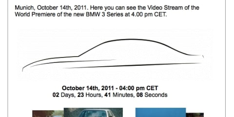 2012 BMW 3 Series to be revealed on Friday