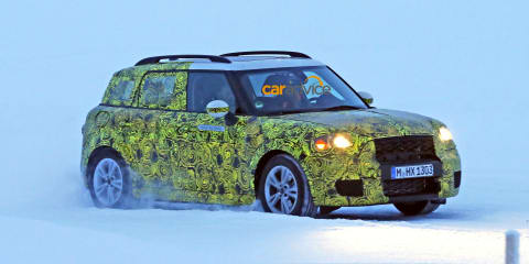 2017 Mini Countryman plug-in hybrid spied