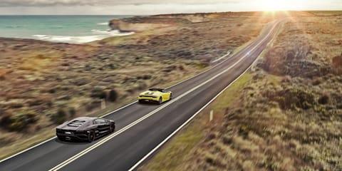 The sound of 36 Lamborghinis singing