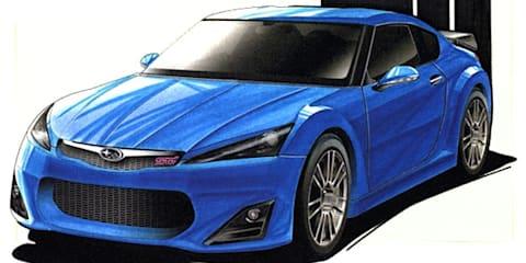 Subaru STI RWD Coupe rendered speculation