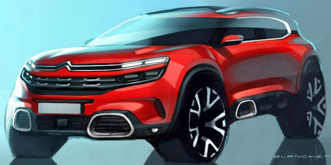 Citroen C5 Aircross sketched ahead of Shanghai debut