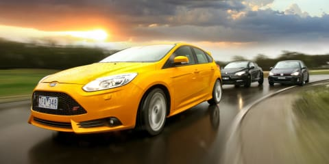Ford Focus ST v Renault Megane RS265 v VW Golf GTI: Comparison Review