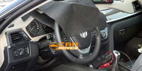 BMW 4 Series Coupe interior spied