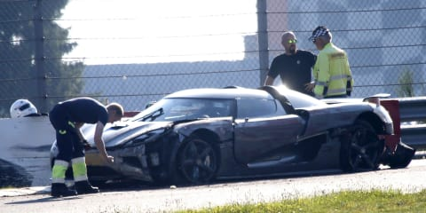 Koenigsegg supercar mule crashes at Nurburgring