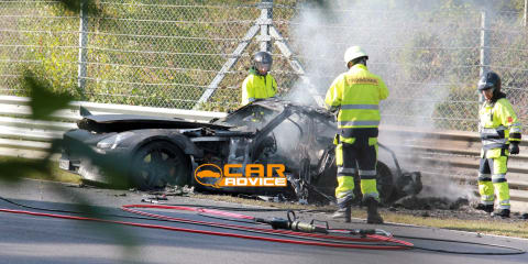 Mercedes-Benz SLS AMG Black Series prototype goes up in flames