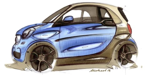 Smart ForTwo sketches detail new car a day before launch