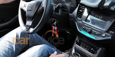 2015 Opel Astra interior spied at Nurburgring