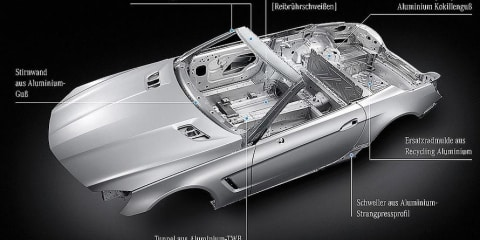 2012 Mercedes-Benz SL-Class to lose 140kg