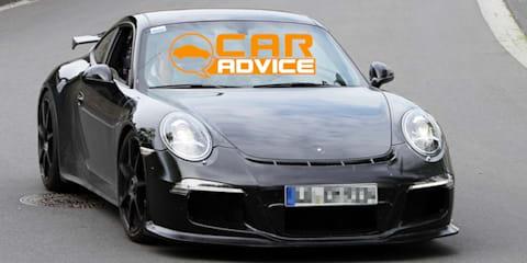 Porsche 911 GT3 caught camo-free