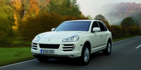 Porsche Cayenne Diesel on show at MIMS